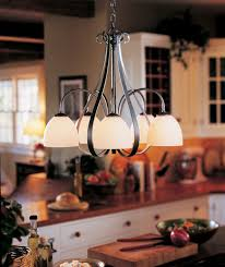 sweeping taper natural iron five light chandelier with opal glass hubbardton forge candles