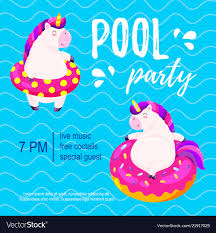 Pool Party Invitation Template Background For
