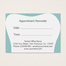 Dentist Appointment Reminder Cards | Dental Office | Dentist ...