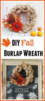 Burlap Crafts My Diy Fall Burlap Wreath