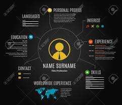 templet for resume resume web infographic template cv with world map and icons