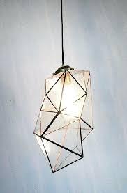 geometric pendant light gold