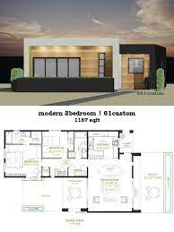 modern 2 bedroom house plan 61custom