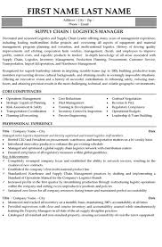 Supply Chain Manager Resume Sample & Template