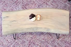 whitewash wood furniture. Whitewash Live Edge Slab Coffee Table Wood Furniture
