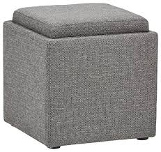 modern storage ottoman. Midcentury Modern Apartment Rivet Ross Tweed Lift-Top Storage Ottoman, 18\ Ottoman S