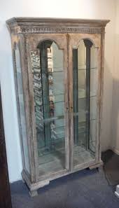 Decorative Display Cases French Distressed Antique Decorative Display Cabinet At 1stdibs