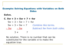 example solving equations with variables on both sides