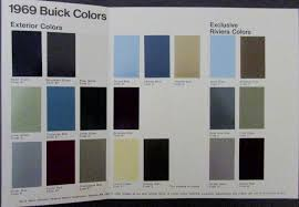 1969 Buick Colors Sales Brochure Leaflet With Paint Chips