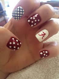 Alabama Nail Art Designs Roll That Tide Love My Nails Alabama Nails Alabama