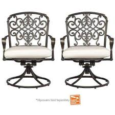 edington cast back pair patio swivel rockers with cushions included choose your own color