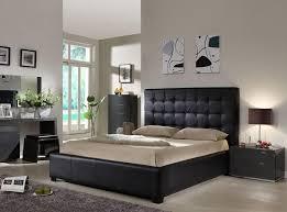 sleek black bedroom furniture