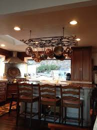 Hanging Bakers Rack Kitchen Kitchen Island With Pot Rack Wm Designs