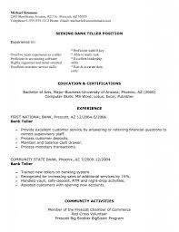 Bank Teller Job Description For Resume Outathyme Com