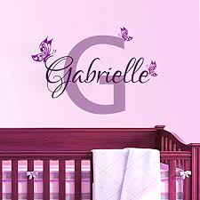 personalized erfly name vinyl wall art decal home decor wall sticker for baby girls room nursery digital art gallery wall decor names
