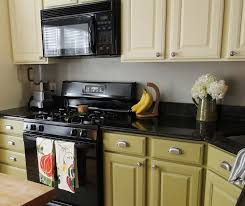 painted kitchen cabinets with black appliances. Moved Permanently Two Tone Kitchen Cabinets Gray And White Painted With Black Appliances