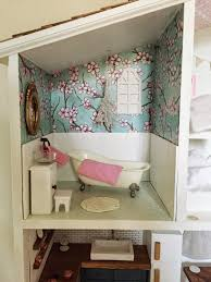 diy barbie dollhouse furniture. Diy Barbie Dollhouse Furniture I Modge Podged The Walls And Floors With Scrapbook Paper Then