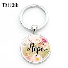 <b>TAFREE</b> Letter Hope Design Keychains Personalized Classic ...