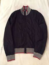 gucci zip up. gucci men\u0027s lightweight zip up jacket black size 52 made in italy