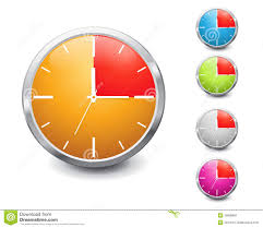 Fifteen Minutes Timer Set Of Multicolored Shiny 15 Minutes Timer Stock Vector