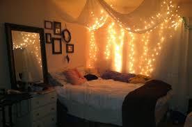 hanging sheet bedroom chic teen bedroom design with hanging string lights above
