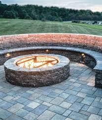 fire pits landscape solutions in blue