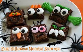 halloween monster brownies make it