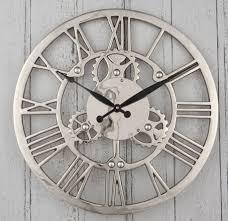 large metal wall clock art