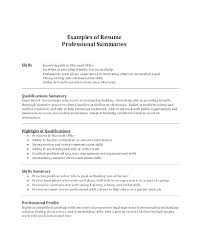 Resume Highlight Examples Resume Summary Example Resume Summary Gorgeous Qualification Summary Resume