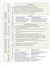Medical Billing Resumes Endearing Resume Examples For Medical Coding