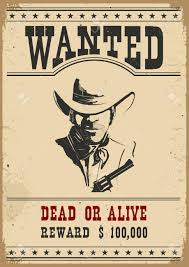 Wanted Poster Western Vintage Paper For Design