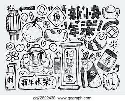Find the best chinese new year messages, greetings and whatsapp status for lunar new year may you have enough blessings and enough happiness to cherish the upcoming year. Vector Art Doodle Chinese New Year Background Chinese Word Happy New Year Clipart Drawing Gg72622438 Gograph