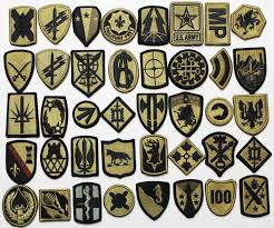 Us Army Patch Chart 40 Assorted Us Army Subdued Military Unit Insignia Patches W