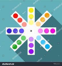 Flat Web Design Color Palette Color Palette Icon Flat Illustration Color Stock Vector