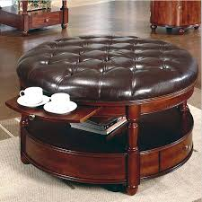 large round leather ottoman coffee table beautiful sets for living room ottomanlarge black inspiring square designbrown storage size of cocktail and with