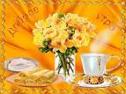 Букет цветов с пожеланием доброго утра 16
