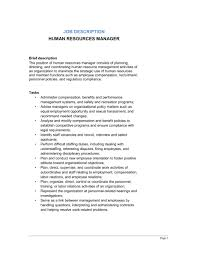 Human Resources Manager Job Description - Template & Sample Form ...