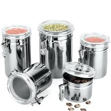 airtight flour container kitchen container boxes 4 size metal storage food bottles sugar tea coffee beans