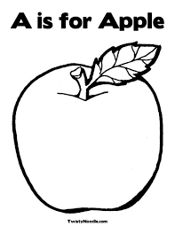 Apple For Preschoolers Free Coloring Pages On Art Coloring Pages