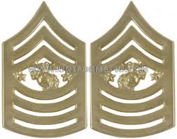 Usmc Sergeant Major Of The Marine Corps Metal Chevrons