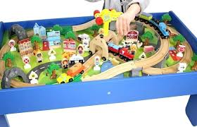 thomas the train wooden table and friends wooden toy train play set with wooden game table