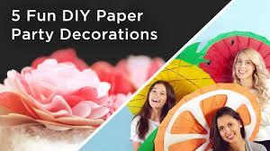 5 Fun <b>DIY Paper Party</b> Decorations - YouTube