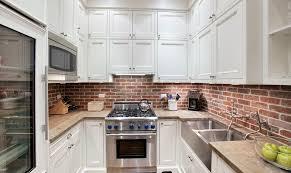 best brick backsplash design for kitchens with double sink