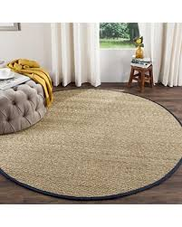 herringbone seagrass rug safavieh natural fiber collection nf115e herringbone natural and blue seagrass round area rug