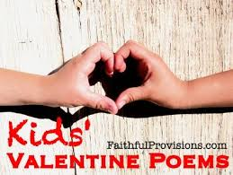Valentines Day Quotes For Preschoolers Childrens Valentine Poems