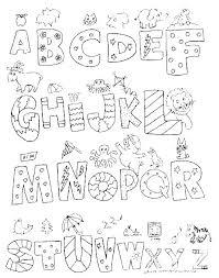 Alphabet Coloring Pages Preschool Pdf Math Worksheets