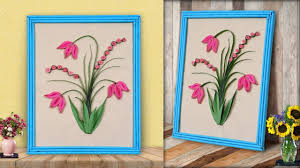 what a paper craft idea diy paper quilling wall frame home decoration ideas