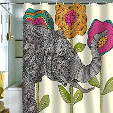 5 colorful modern shower curtains from deny designs retro renovation colorful shower curtains elephant shower curtain