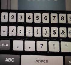 iPhone 5 Screen Keyboard Showing