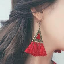 <b>2019 New</b> Bohemian Colorful <b>Tassel</b> Statement Earrings Boho ...